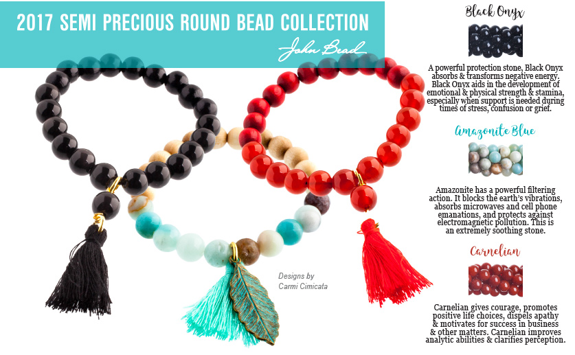 The Attributes of Our 2017 Semi Precious Bead Collection